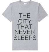 NY The City That Never Sleeps T-shirt -Grey