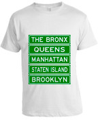 NY Street Sign T-shirt -White