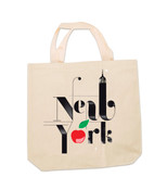 New York Apple Canvas Tote Bag