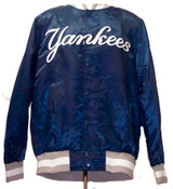 NY Yankees Genuine Lightweight Button Up Satin Jacket by Starter