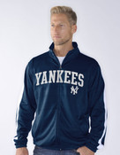 NY Yankees Space Dye Zip-Up