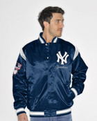 NY Yankees Varsity Satin Jacket -Front