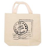 NY Postal Stamp Canvas Tote Bag