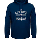 NY Yankees Therma Base™ Hooded Fleece Pullover Sweatshirt- Navy