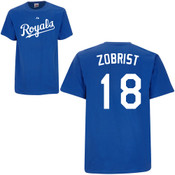 Ben Zobrist T-Shirt - Royal Blue Kansas City Royals Adult T-Shirt