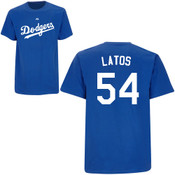 Mat Latos T-Shirt - Royal Blue La Dodgers Adult T-Shirt