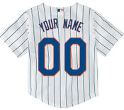 NY Mets Replica Personalized Kids Home Jersey - back
