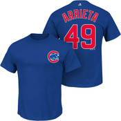 Jake Arrietta T-Shirt - Blue Chicago Cubs Adult T-Shirt