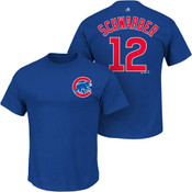 Kyle Schwarber T-Shirt - Blue Chicago Cubs Adult T-Shirt