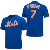 Travis D'Arnaud T-Shirt - Blue New York Mets Adult T-Shirt
