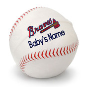 Atlanta Braves Personalized Baseball Pillow