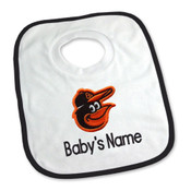 Baltimore Orioles Personalized Pullover Baby Bib