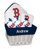 Boston Red Sox B Personalized 6-Piece Gift Basket