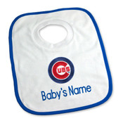 Chicago Cubs Personalized Pullover Baby Bib