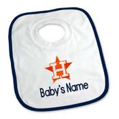 Houston Astros Personalized Pullover Baby Bib