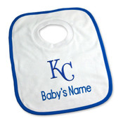 KC Royals Personalized Pullover Baby Bib
