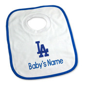 LA Dodgers Personalized Pullover Baby Bib