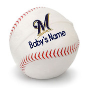 Milwaukee Brewers Personalized Baseball Pillow