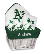Oakland Athletics Personalized 6-Piece Gift Basket