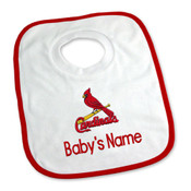 St Louis Cardinals Personalized Pullover Baby Bib