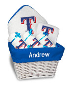 Texas Rangers Personalized 6-Piece Gift Basket