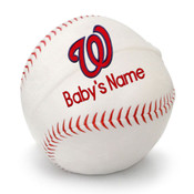 Washington Nationals Personalized Baseball Pillow