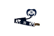 NY Yankees Pacifier and Clip