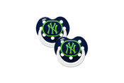 NY Yankees Glow in Dark Pacifier 2 Pack