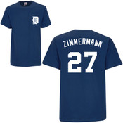 Jordan Zimmerman T-Shirt - Navy Detroit Tigers Adult T-Shirt