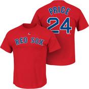 David Price T-Shirt - Red Boston Red Sox Adult T-Shirt