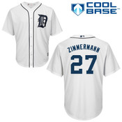 Jordan Zimmerman Youth Jersey - Detroit Tigers Replica Kids Home Jersey