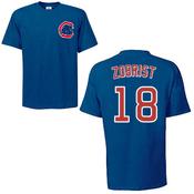 Ben Zobrist T-Shirt - Blue Chicago Cubs Adult T-Shirt