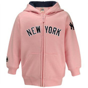 "Yankees Pink Youth ""Road"" Hooded Sweatshirt"