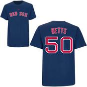 Mookie Betts T-Shirt - Navy Boston Red Sox Adult T-Shirt