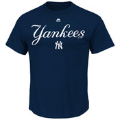 New York Yankees Majestic Series Sweep Mens Tee