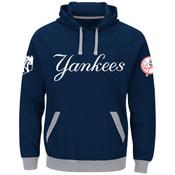 New York Yankees Majestic Third Wind Hooded Adult Sweatshirt