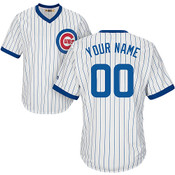 Chicago Cubs Cooperstown Personalized Pinstripe Jersey