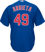 Jake Arrieta Jersey - Chicago Cubs Replica Adult Royal Blue Jersey
