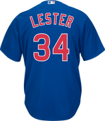 Jon Lester Jersey - Chicago Cubs Replica Adult Royal Blue Jersey