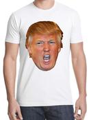 Donald Trump Face Shirt- White