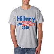 Hillary Clinton For Prison T-shirt -Grey