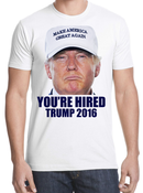 Donald Trump You're Hired T-shirt -White