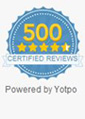 Over 500 Reviews from Real Customers - Certified by Yotpo