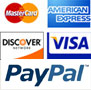 We accept all major Credit Cards and Paypal through our Secure online checkout