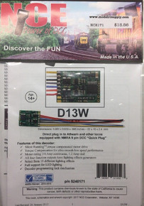 NCE 171 D13W DCC DECODER HO 4 function wire /was NCE 100 D13SR