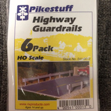 Pikestuff 13 Highway Guardrails kit 6 pack HO Scale