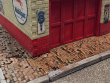 BAR MILLS 2020 Weathered Brick Sidewalk HO Scale