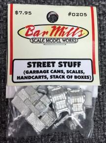 "Bar Mills 205 ""Street Stuff"" asst HO Scale detail castings"