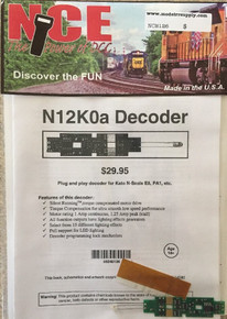 NCE 126 N12K0a Drop in decoder for N Scale Kato PA, E8, P42