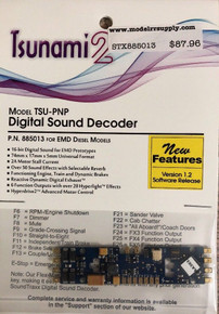 SOUNDTRAXX 885024 Tsunami2 TSU-PNP EMD-2 Diesel Locomotives Sound Decoder - NEW!